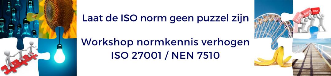 Laat de ISO norm geen puzzel zijn