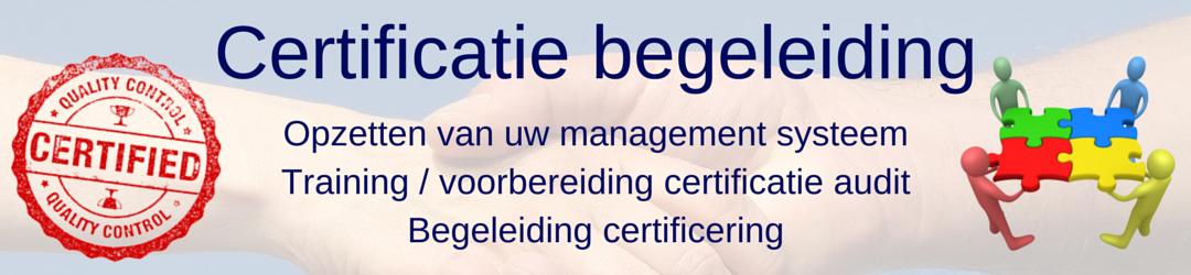 Begeleiden ISO certificeringstraject